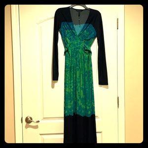 BCBG MaxAzria long sleeve maxi dress. Lightly worn